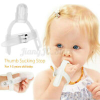 Safety Thumb Sucking Stop Finger Guard Protect Silicone Tool For Baby Kids