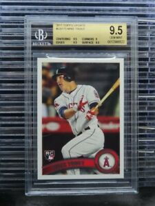 2011 Topps Update Mike Trout Rookie Card RC #US175 BGS 9.5 Angels (22) I57