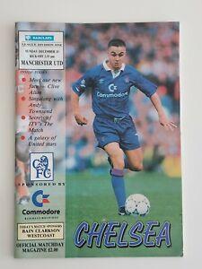 Football Programme, Chelsea v Ipswich Town Utd 17/10/1991 - Good Condition