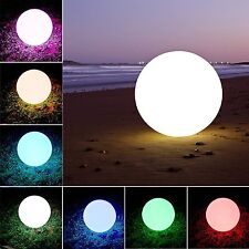 Waterproof LED Ball Light Lamp Multi Color Remote LED Lawn Lights Pool & Decor