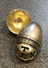 Silver Egg Acorn Shaped Novelty Vinaigrette George III London 1794-5 Maker Mark