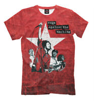 Rage Against the Machine t-shirt - red color print tee anarchy punk rock RATM
