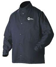 """Navy 88% Cotton, 12% Nylon Welding Jacket, Size: Large, 30"""" Length"""