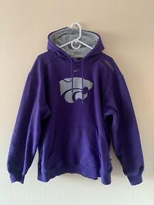Nike Center Check Swoosh Kansas State Wildcats Hoodie Mens Sz. L VINTAGE 90's