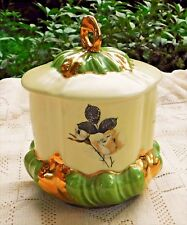 """Vintage Decorative Lidded Dish - Floral Design w/ Gold Accents - Signed """"Maggio"""""""