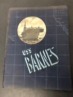 Vtg Orignal USS BARNES CVE 20 WORLD WAR II NAVY NAVAL CRUISE BOOK WW II