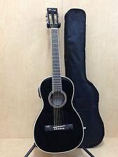 Caraya Parlor 590 Electric-Acoustic Guitar,Gloss Black+Free bag,Extra String set