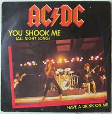 AC/DC  You Shook Me All Night Long FRANCE rare picture sleeve! Heavy Metal