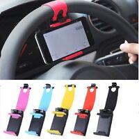 Car Steering Wheel Mobile Phone Holder Universal Cellphone Stand Mount