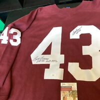 Larry Brown 1972 MVP Signed Authentic Washington Redskins Throwback Jersey JSA