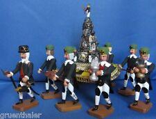 7 barroco mineros con erzpyramide mineral fa. Werner Seiffen Erzgebirge Bergmann
