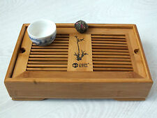 CHINESE JAPANESE GREEN TEA BAMBOO SERVING TRAY RESTAURANT DINNER PARTY TABLEWARE