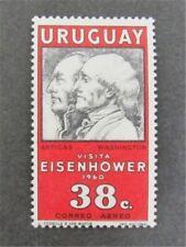 nystamps Uruguay Stamp Used Paid $50 Print On Both Side Error   U11y1246