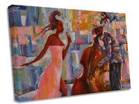 Jazz Abstract Singer  Canvas Wall Art Picture Print