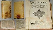 DECRETA SACRAE RITUUM CONGREGATIONIS NOTIS ILLUSTRATA ALTERA EDITIO ROMANA 1768