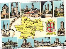 71 - cpsm - Les joyaux de l'architecture en Saône et Loire