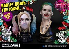 PRIME 1 STUDIO THE JOKER & HARLEY QUINN Head Set SUICIDE SQUAD Batman MIB