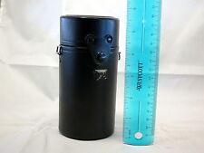 "Olympus Lens Case 5"" t x 2.5""w OM Black Leather 135mm 85mm 5404004"