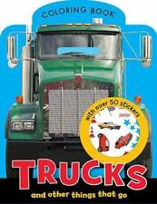 Trucks Mini Coloring Book by Make Believe Ideas (2012, Paperback)