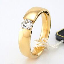Solitär-Ring mit traumhaftem Brillant 0,39 ct TW-SI - 750 Gelbgold 8,4g - Gr. 53