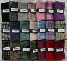 Harris Tweed Wool Fabric Craft Sewing Pieces 30cm x 25cm Including Label