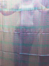 NWT 100% PURE SILK BIG SIZE SCARF SQUARE VINTAGE 80s TRIBAL SHEER TEAL INDIA hot