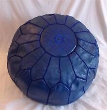 Nuevo Diseñador étnica Comercio Justo Azul Marroquí Cuero Puf de Marrakech
