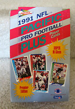 1991 NFL PACIFIC PRO FOOTBALL PLUS TRADING CARDS BOX PREMIER EDITION HOBBY BOX