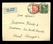 IRELAND 1949 AIRMAIL 8p SWORD + 1p MANGAN FINE FRANKING to USA...FEAR BAN OFFALY