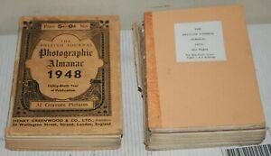 British Journal Photographic Almanac - Archive Photo Photography 1934 & 1948 Lot