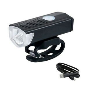 Bicycle Headlight USB Rechargeable 3 Mode Set 300 Lumen LED Front Lamp Cycling