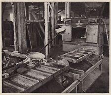 D5410 Porto Marghera - Forno di fusione dello zinco - Stampa - 1938 old print