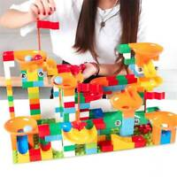 Crazy Maze Ball 52-296Pcs Track Marble Tracks Building Block Run Race Funnel Set