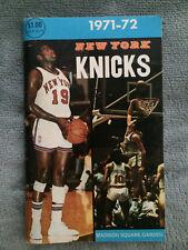1971 1972 New York Knickerbockers Knicks Nba yearbook in Exc 00004000 ellent condition