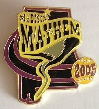 Madison Mayhem 2005 Girls Large Softball Pin Tornado Badge Rare Vintage (E2)