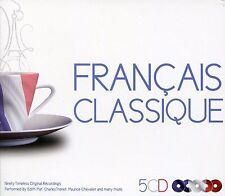 FRENCH CLASSIC 5 CD BOX SET - FRANCAIS CLASSIQUE - EDITH PIAF, TINO ROSSI & MORE