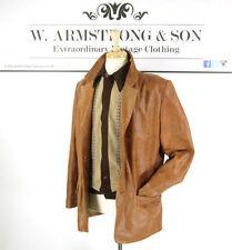 Unbranded Hip Length Leather Button Men's Coats & Jackets