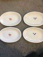 Rae Dunn Oval Dessert Plates Strawberry & Blueberry Set Of 4. Magenta.