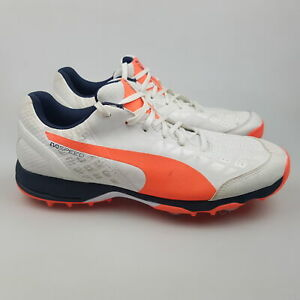 Men's PUMA 'EvoSPEED 1.4' Sz 7 US Cricket Shoes White VGCon | 3+ Extra 10% Off