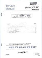 Service Manual für Tuner Marantz ST-17