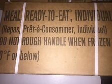 Genuine Military MRE Case A 12 Meals Ready to Eat Sealed Test Date 2018