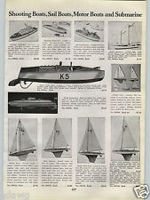 1940 PAPER AD K5 Spring Motor Toy Boat USN Shooting Battleship Air Craft Carrier
