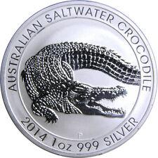 2014 p 1 oz .999 Silver Australian Saltwater Crocodile BU PERTH MINT