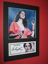 LANA DEL REY A4 PHOTO MOUNT SIGNED PRINTED HONEYMOON ULTRAVIOLENCE PARADISE CD