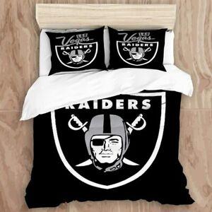 Las Vegas Raiders 3PCS Bedding Set Duvet Cover Pillowcases Quilt Cover US Size