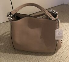 Coach Dalton Leather Shoulder Bag, Taupe - New With Tags