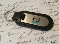 Mazda Llavero Grabado Y No Relleno en Piel