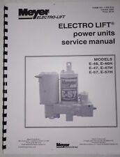 Meyer Snow Plow Pump Service Manual E47 E57 E46 & -H Models w/ Color Flow Charts