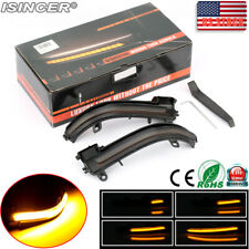Sequential Side Mirror LED Turn Signal Lights For BMW 1 2 3 4 Series X1 Smoked