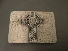 COLUMBA CROSS New BELT BUCKLE Metal Scottish Irish Celtic Design